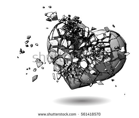 stock-vector-monochrome-broken-heart-with-pen-and-ink-drawing-illustration-style-on-white-background-561418570